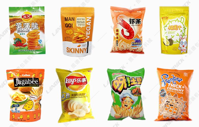 膨化食品包装机包装样品