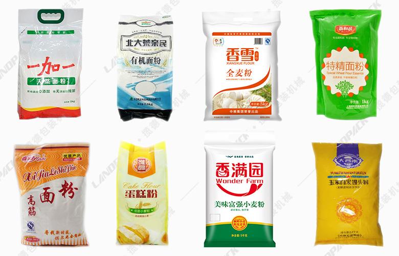袋装面粉自动包装机包装样品