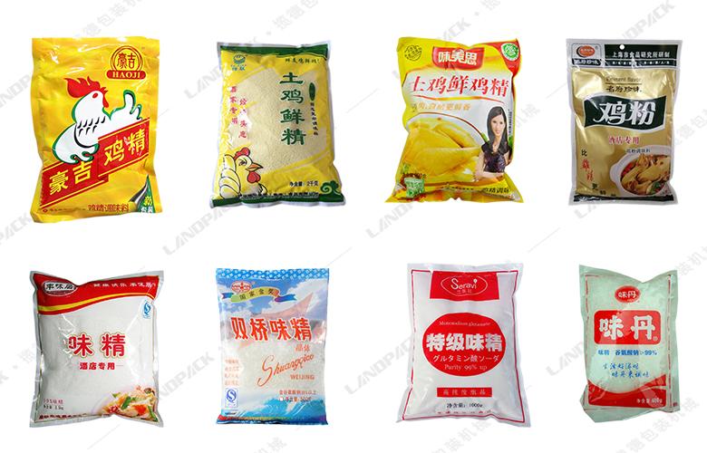 鸡精给袋式包装机包装样品