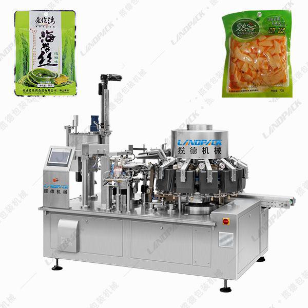 全自动酱腌菜包装机_酱菜给袋式真空包装机