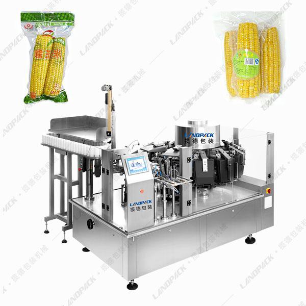 鲜玉米真空包装机|糯玉米给袋式真空包装机