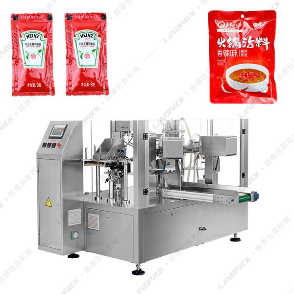 番茄酱给袋式包装机_酱料给袋式包装机