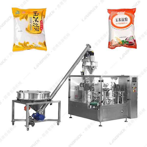 玉米淀粉包装机_淀粉给袋式包装机