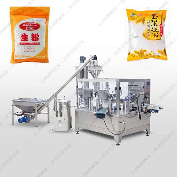 全自动食品粉末给袋包装机(带螺杆粉末上料机)