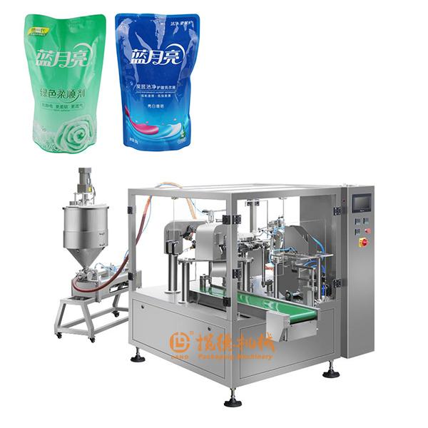 洗衣液包装机_全自动洗衣液给袋式包装机